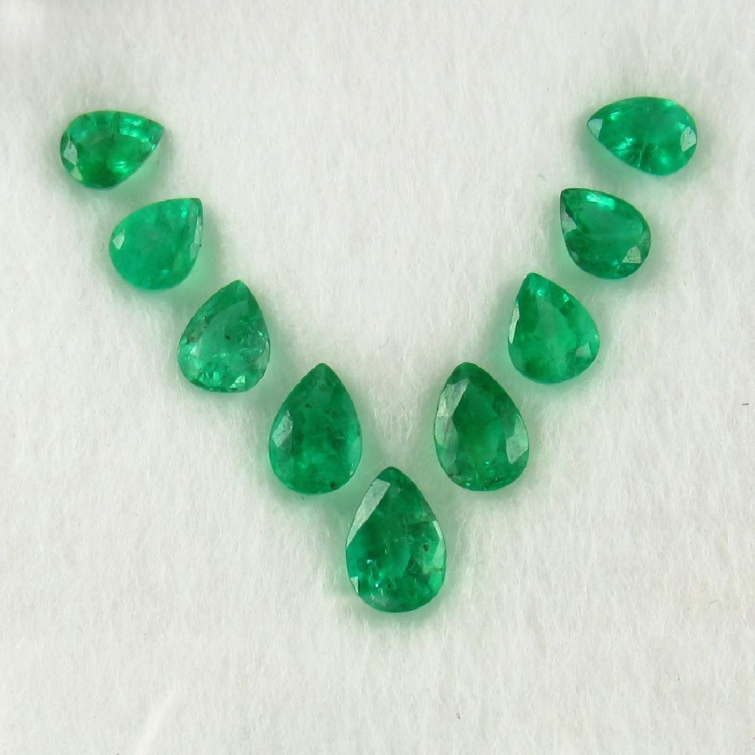 2.79 Carat Natural 9 Loose Emerald Oval Set