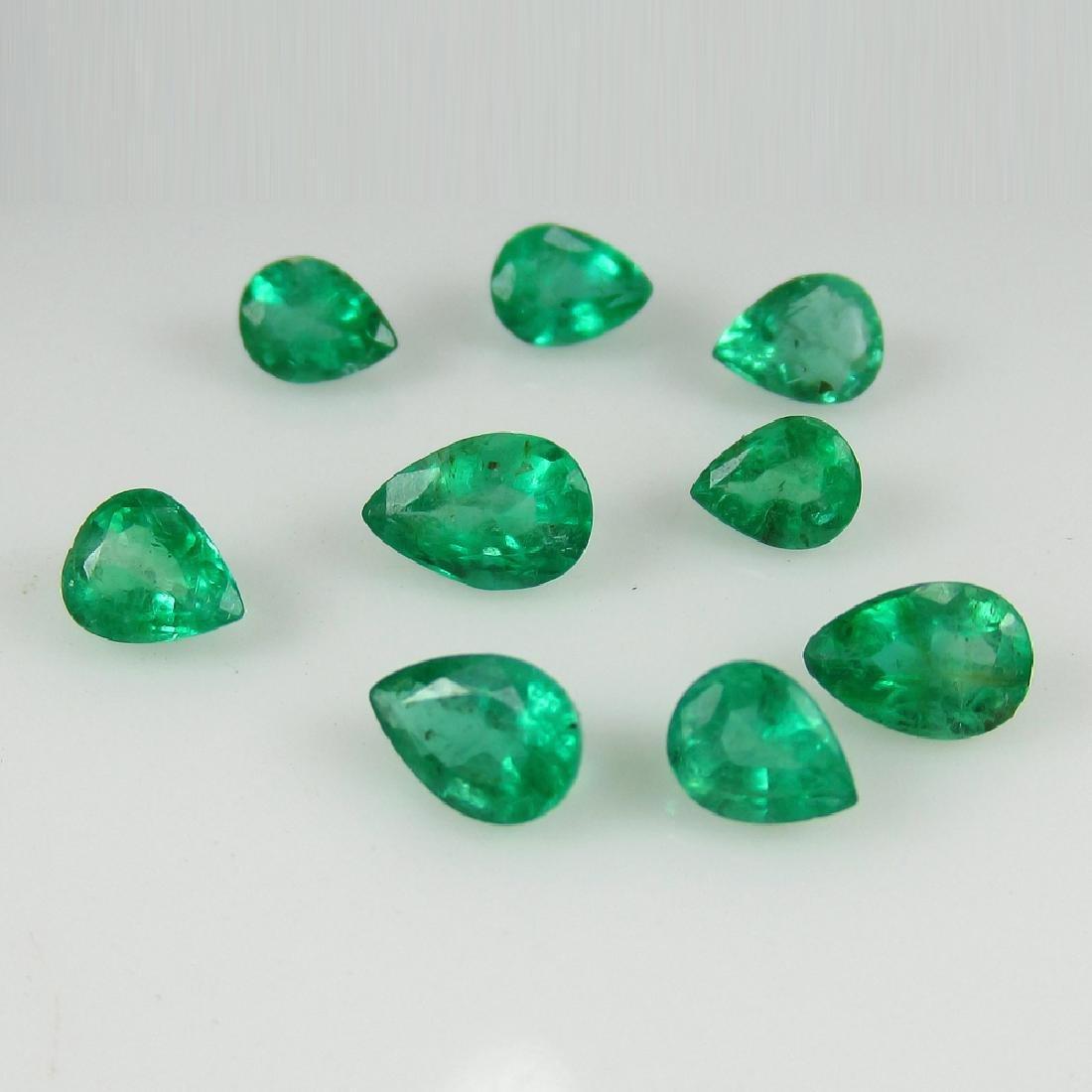 2.79 Carat Natural 9 Loose Emerald Oval Set - 2