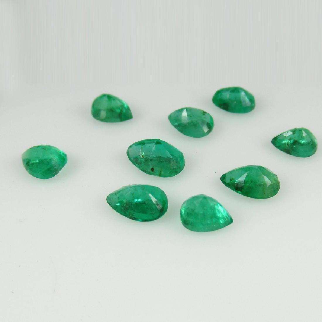 2.79 Carat Natural 9 Loose Emerald Oval Set - 3