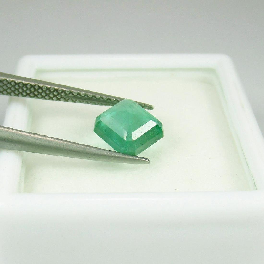 1.11 Carat Loose Octagon High Quality Emerald - 2