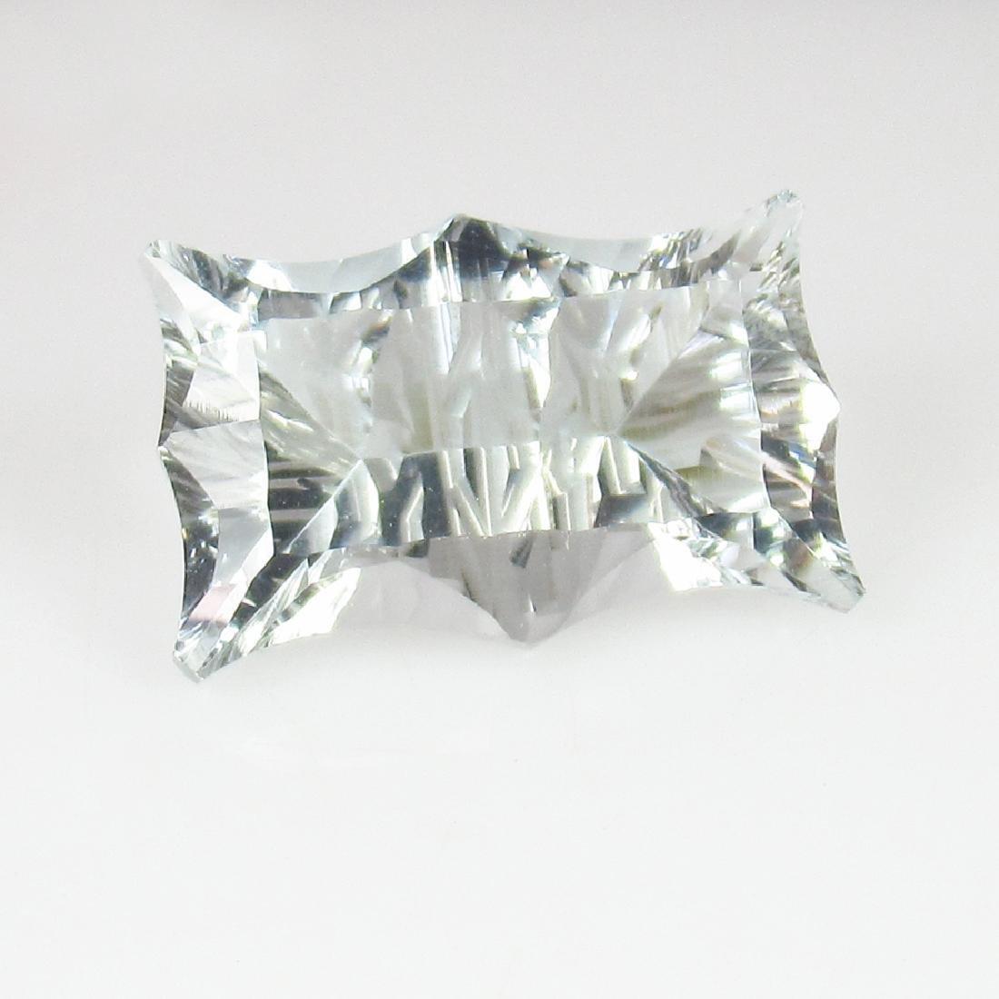 6.63 Carat Loose Very Rare Concave cut Aquamarine - 4
