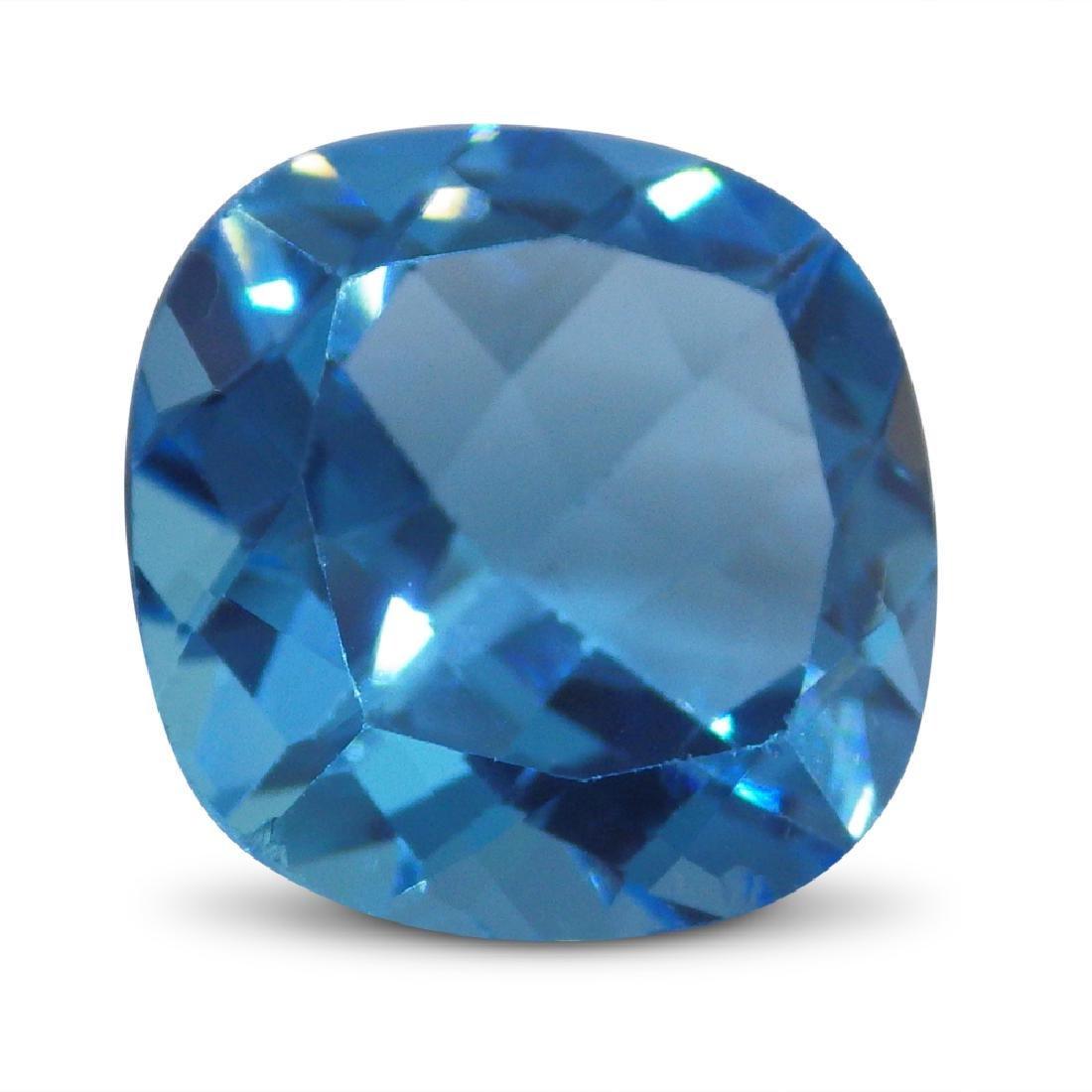 15.13 Carat Loose Cushion Blue Topaz