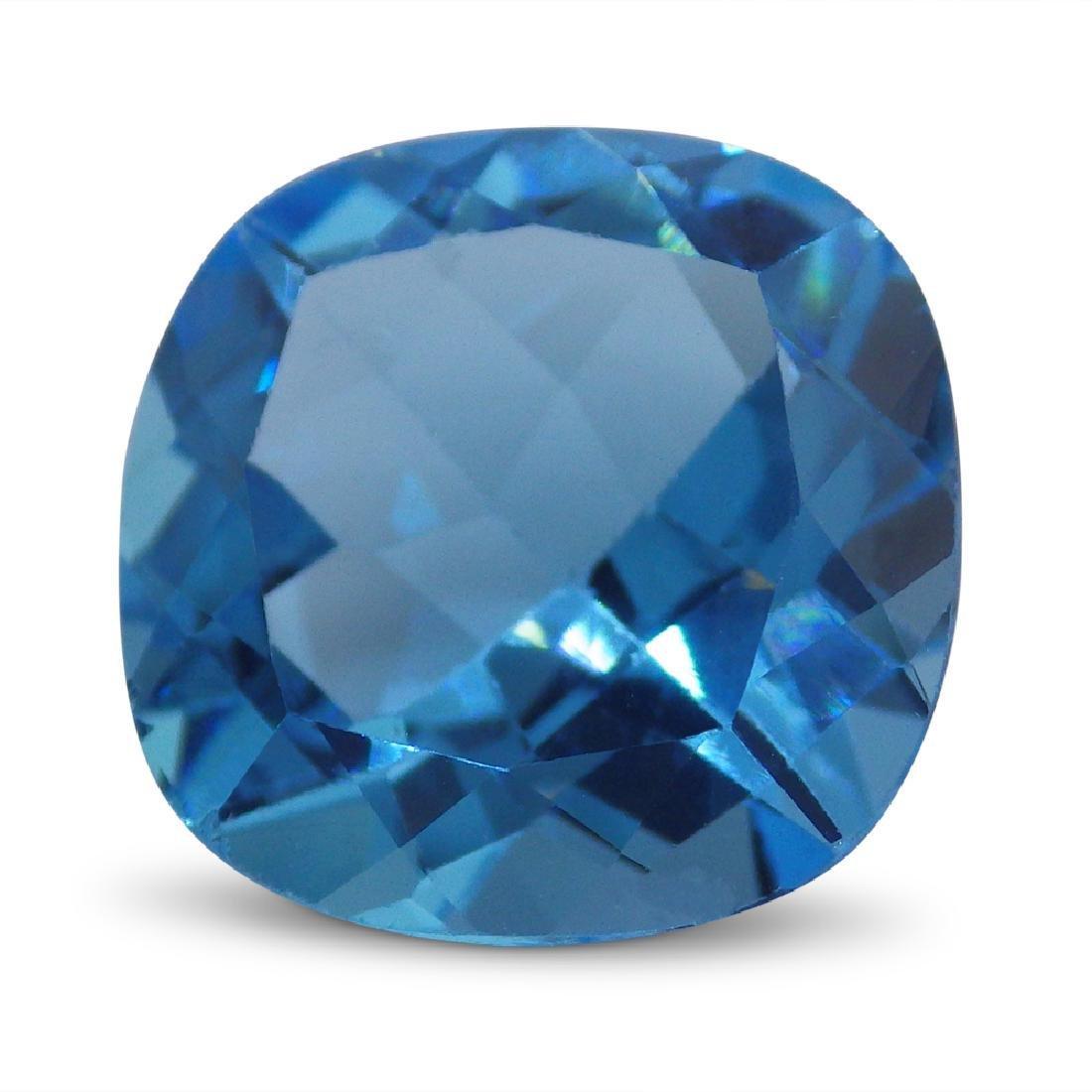 15.13 Carat Loose Cushion Blue Topaz - 2