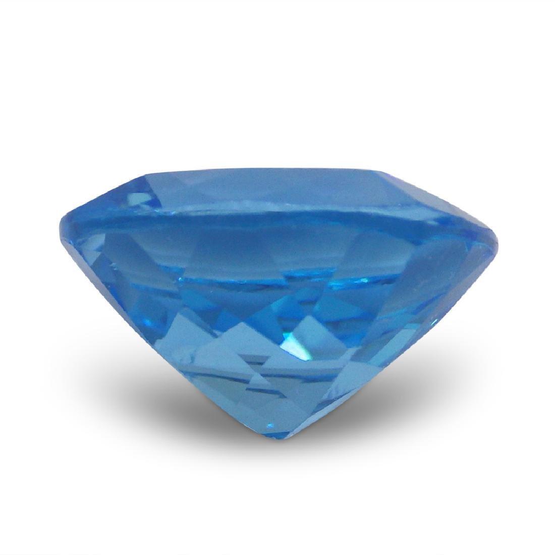 15.13 Carat Loose Cushion Blue Topaz - 6