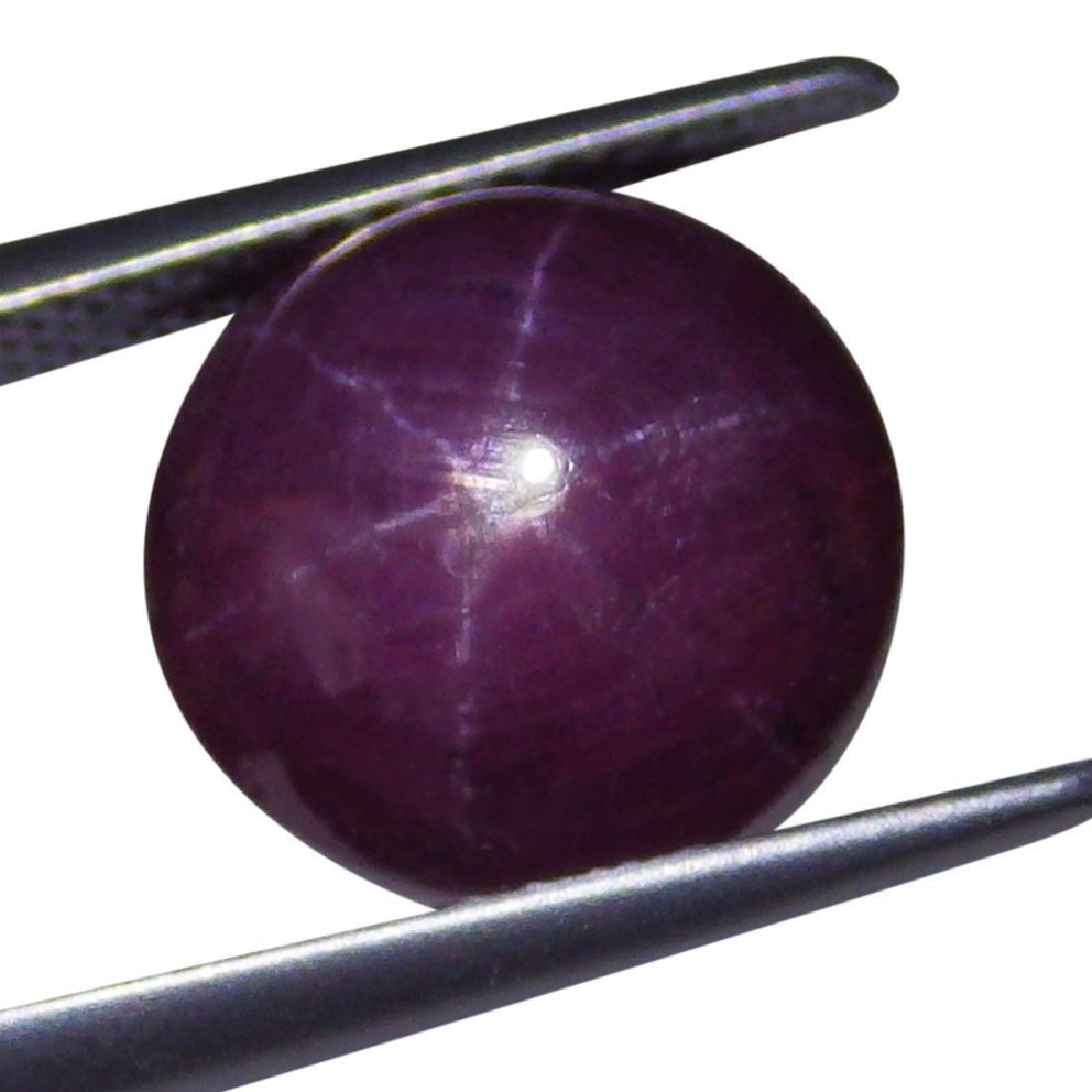 2.29 Carat Loose Round Star Ruby - 7