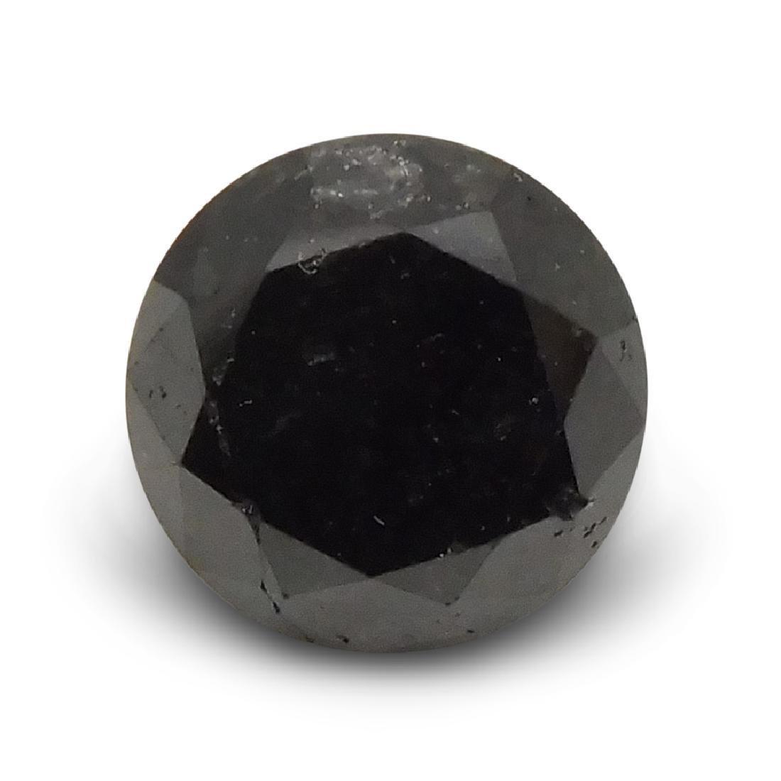 1.9 Carat Loose Round Black Diamond