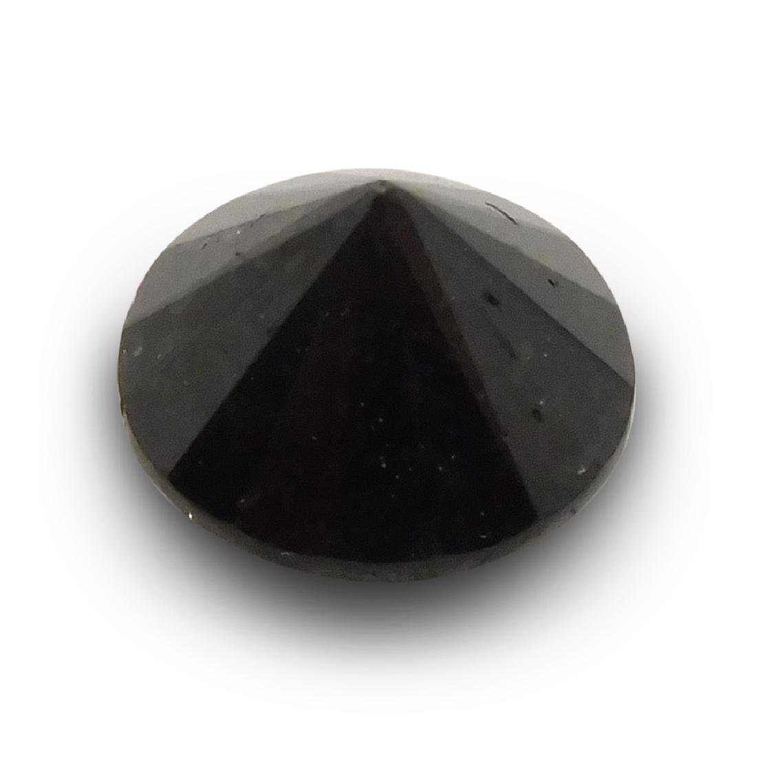 1.9 Carat Loose Round Black Diamond - 2