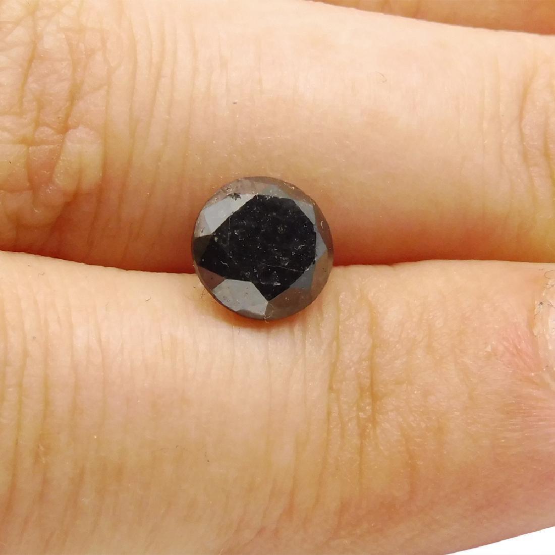 1.9 Carat Loose Round Black Diamond - 3