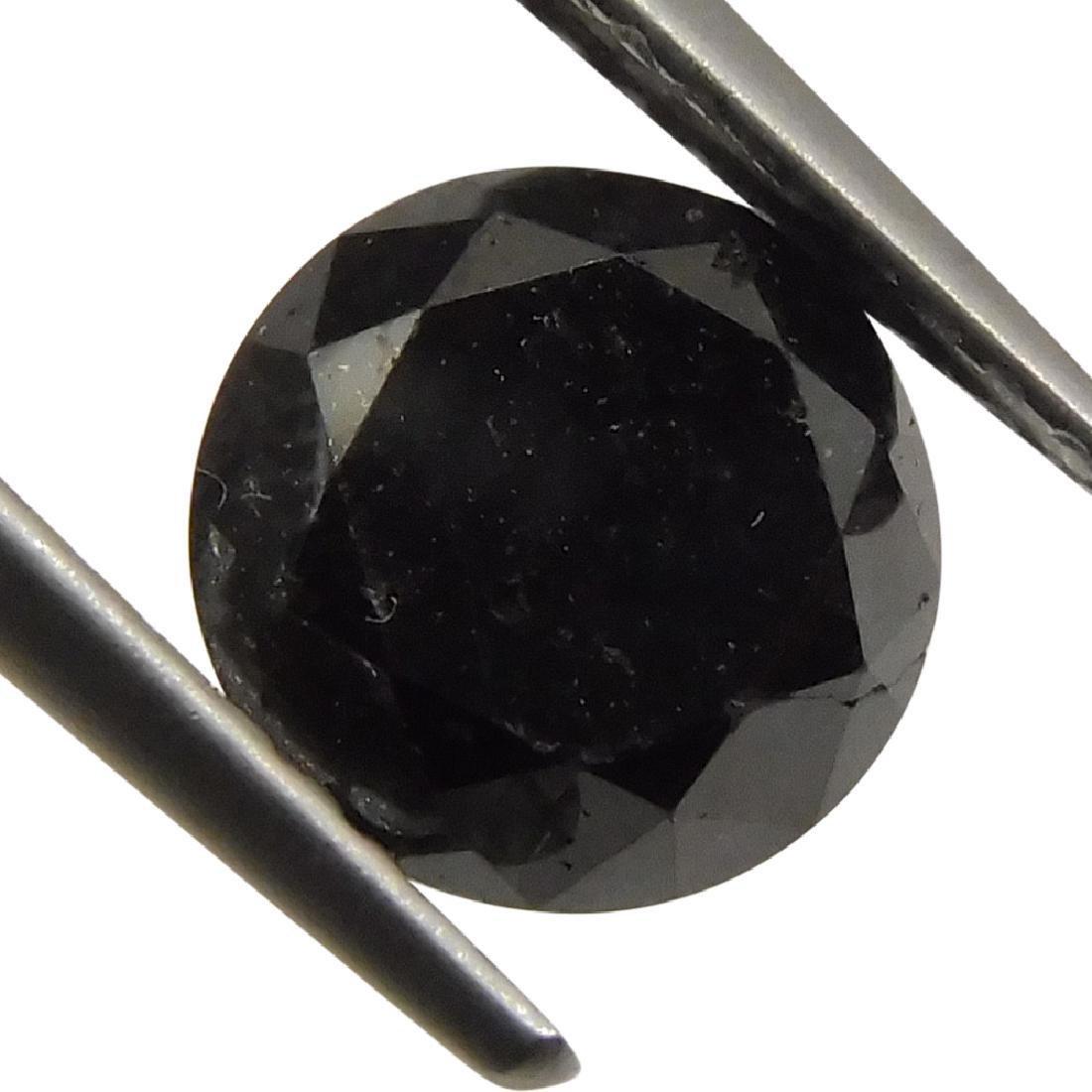 1.9 Carat Loose Round Black Diamond - 4