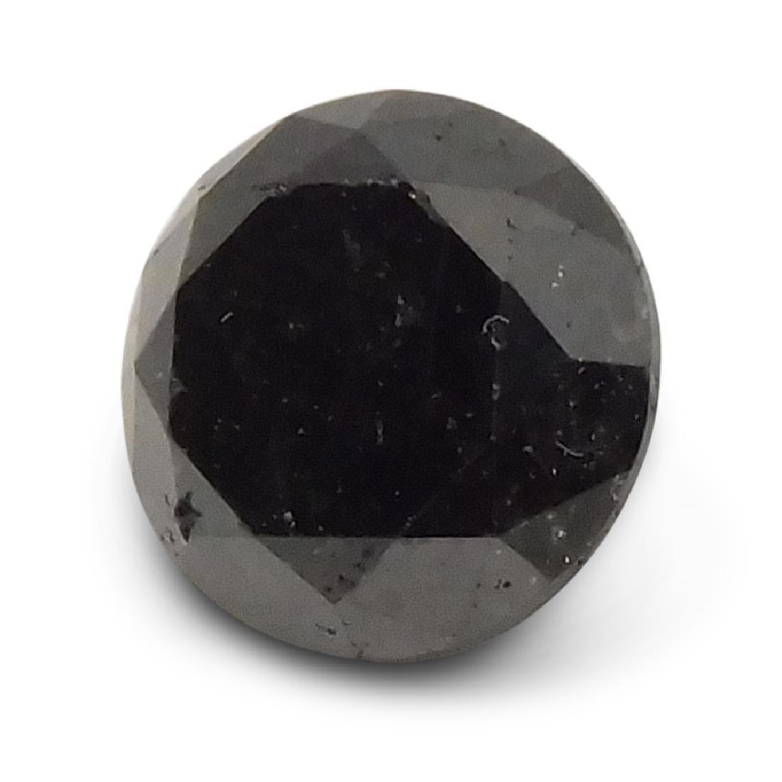 1.9 Carat Loose Round Black Diamond - 5