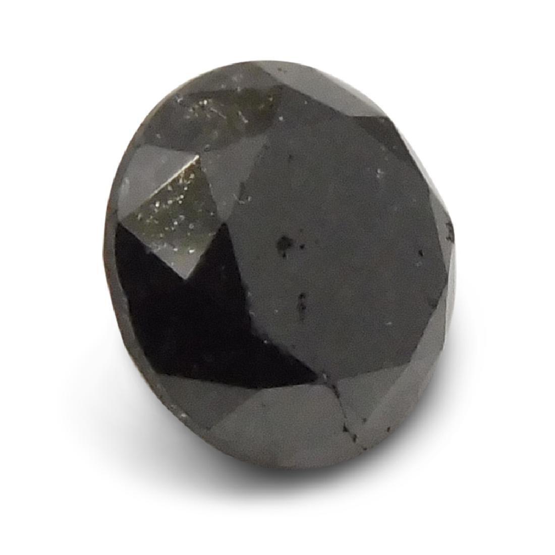 1.9 Carat Loose Round Black Diamond - 6