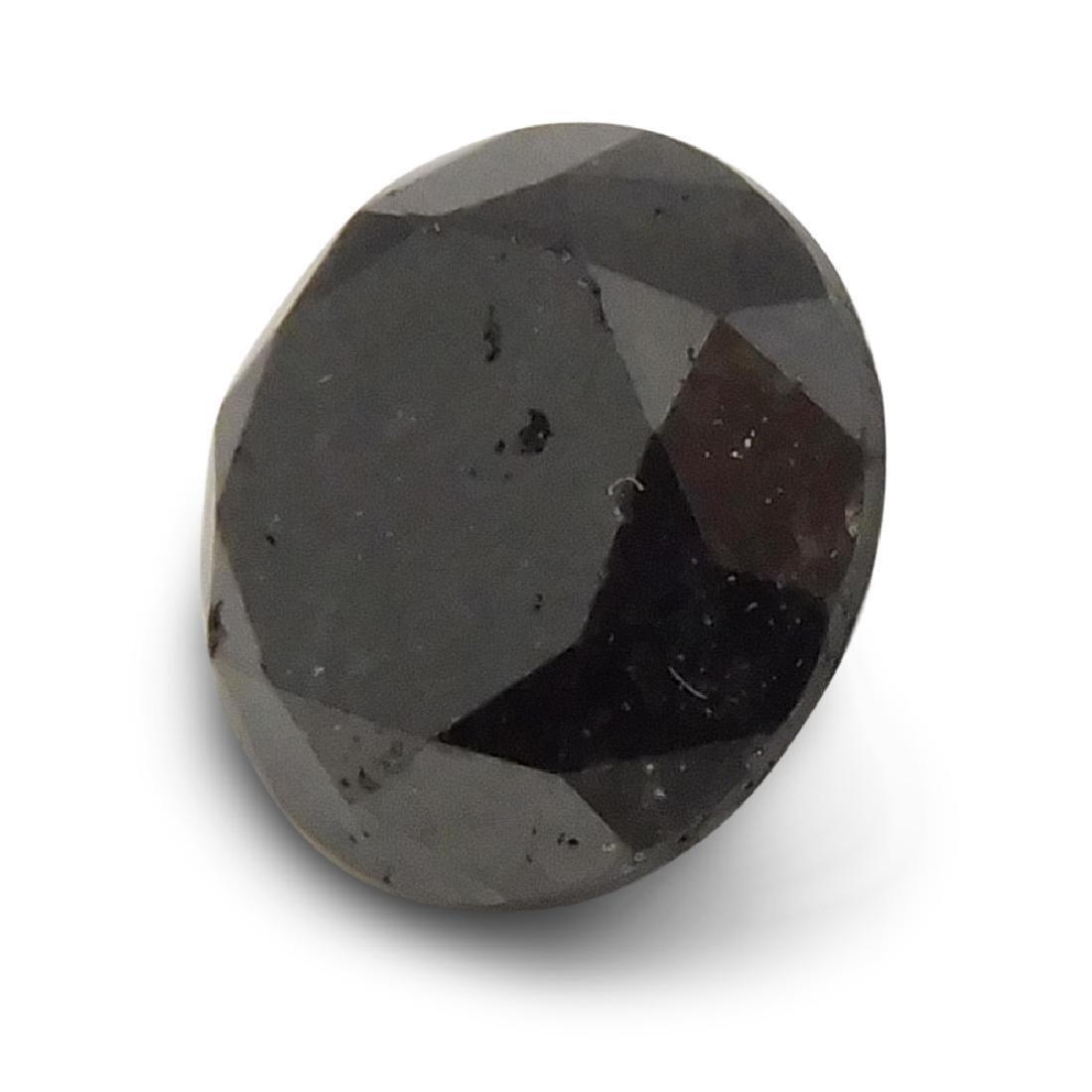 1.9 Carat Loose Round Black Diamond - 7