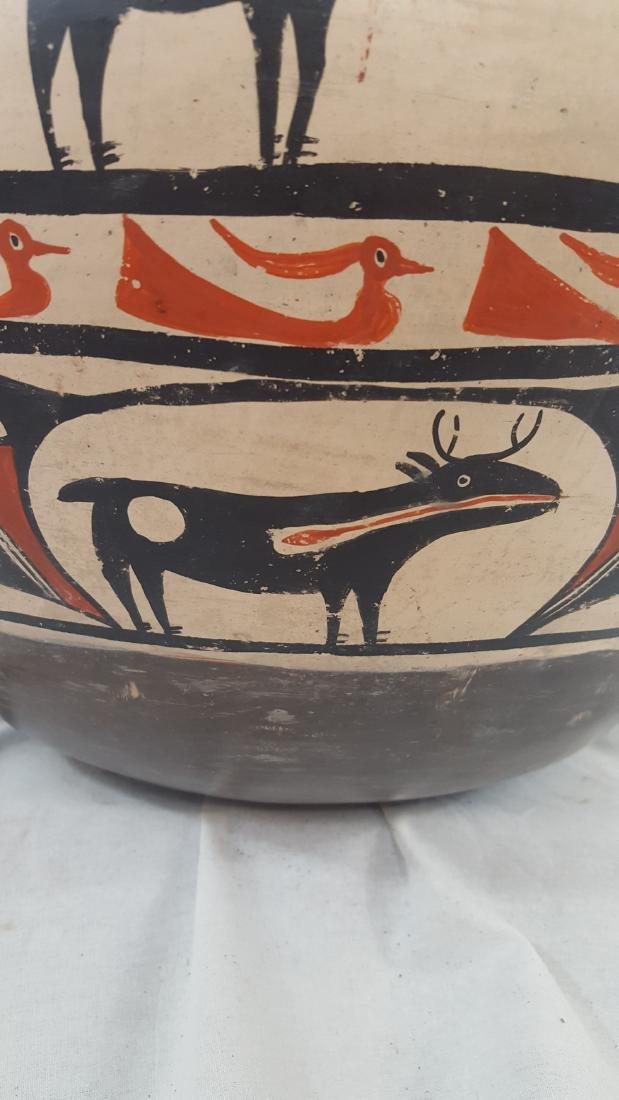 Large Zuni Style Pueblo Pottery Double Heartline 1930's - 10