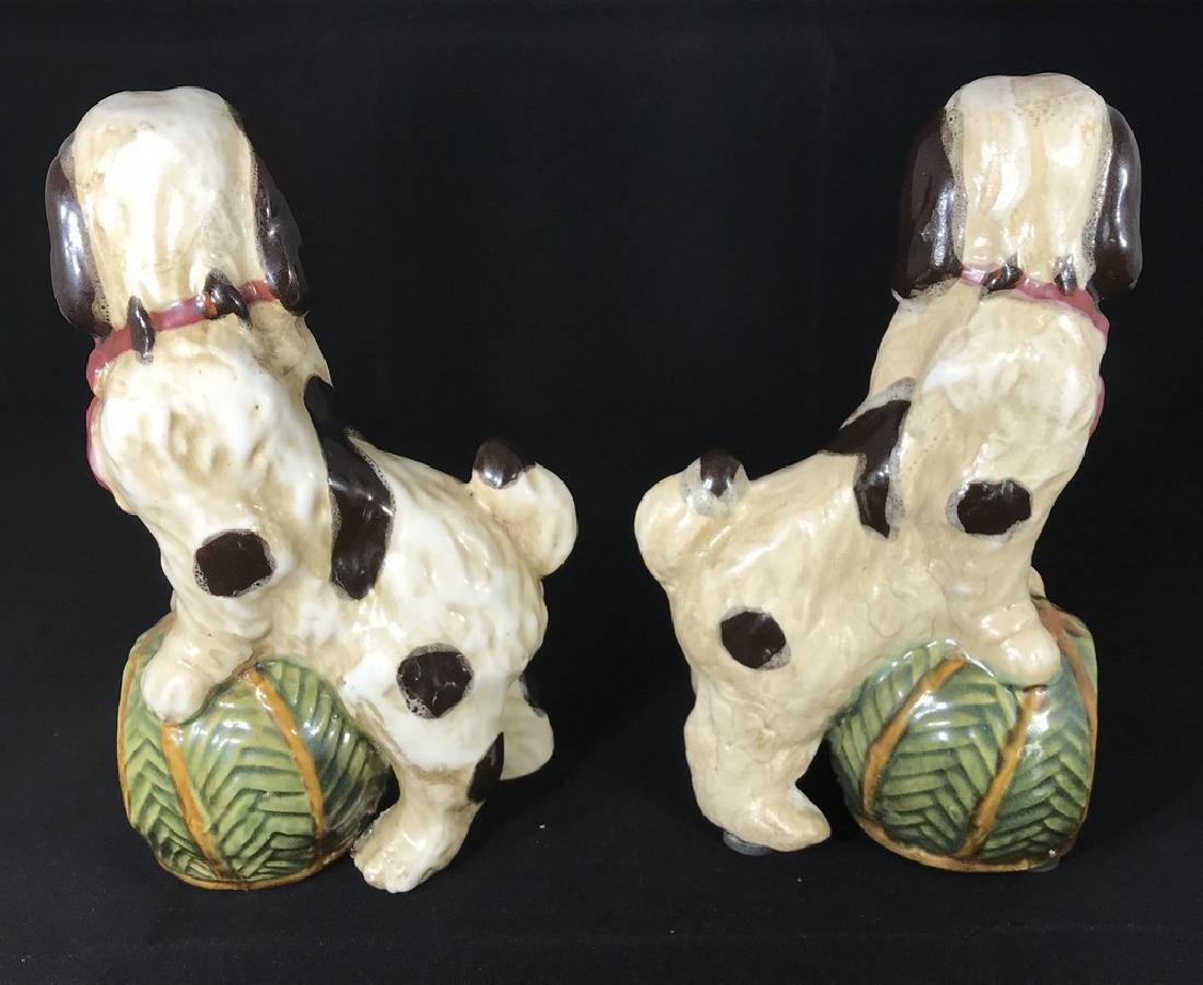 Pottery Dog Bookends Early 20th Century - 2