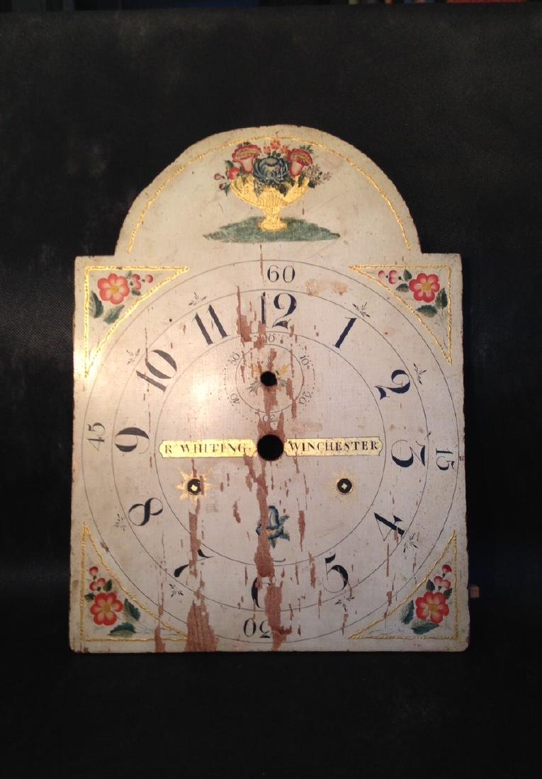 19th Century Wooden Whiting Winchester Clock Face