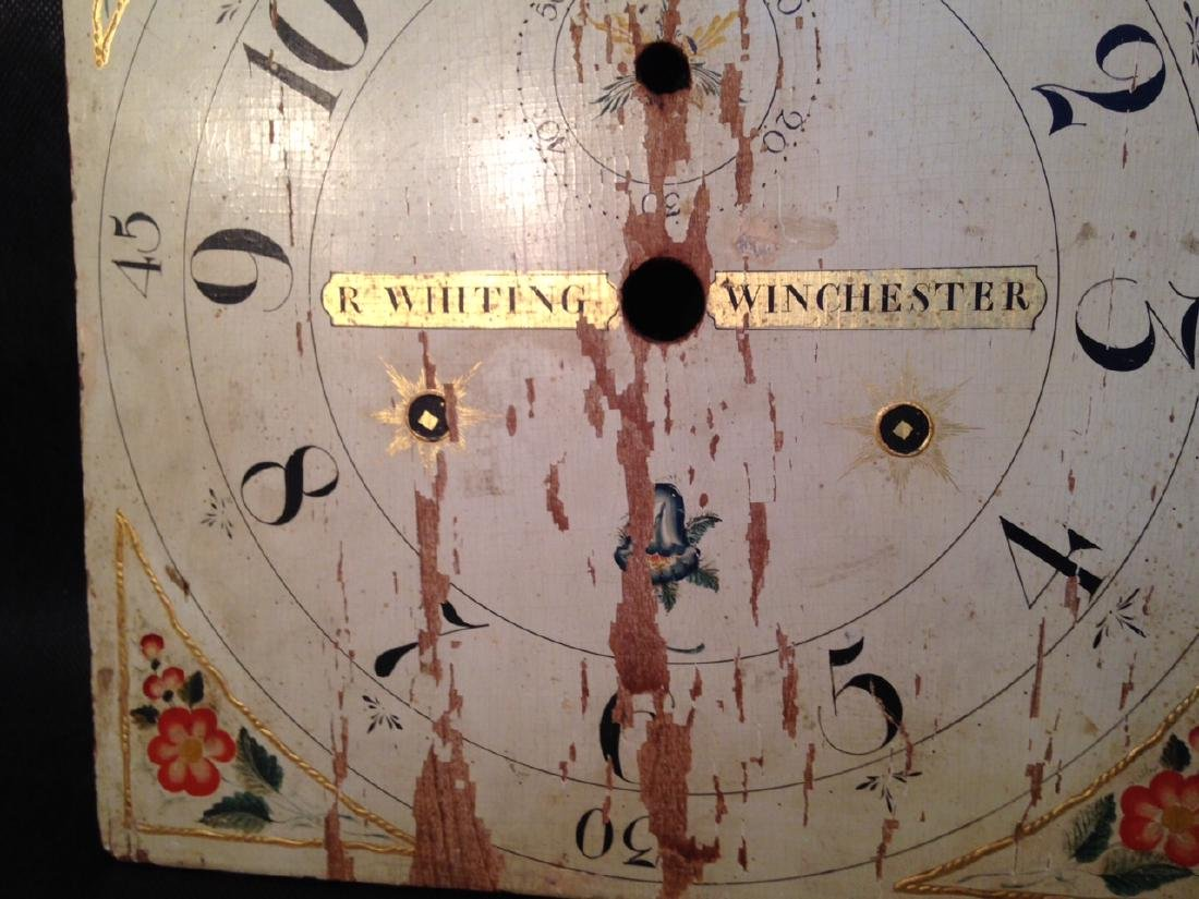 19th Century Wooden Whiting Winchester Clock Face - 4