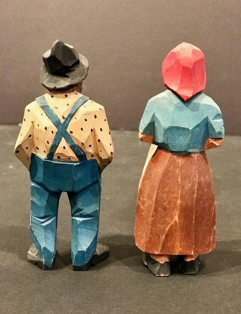 Pair of Carvings of Farmer & Wife, Early 20th Century - 6