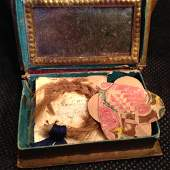 19th Century Charming Friendship Book with Love Tokens