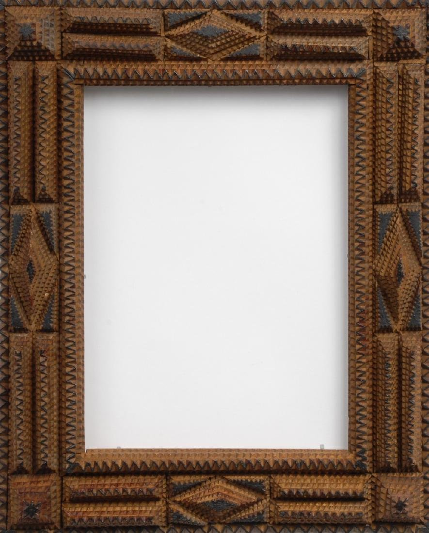 Tramp Art Frame with Painted Highlights - 2