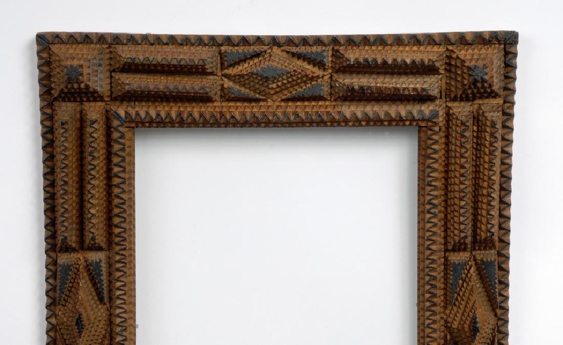 Tramp Art Frame with Painted Highlights - 3