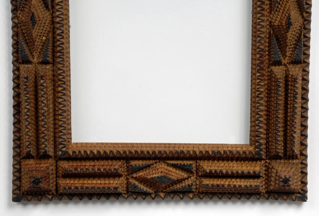 Tramp Art Frame with Painted Highlights - 4