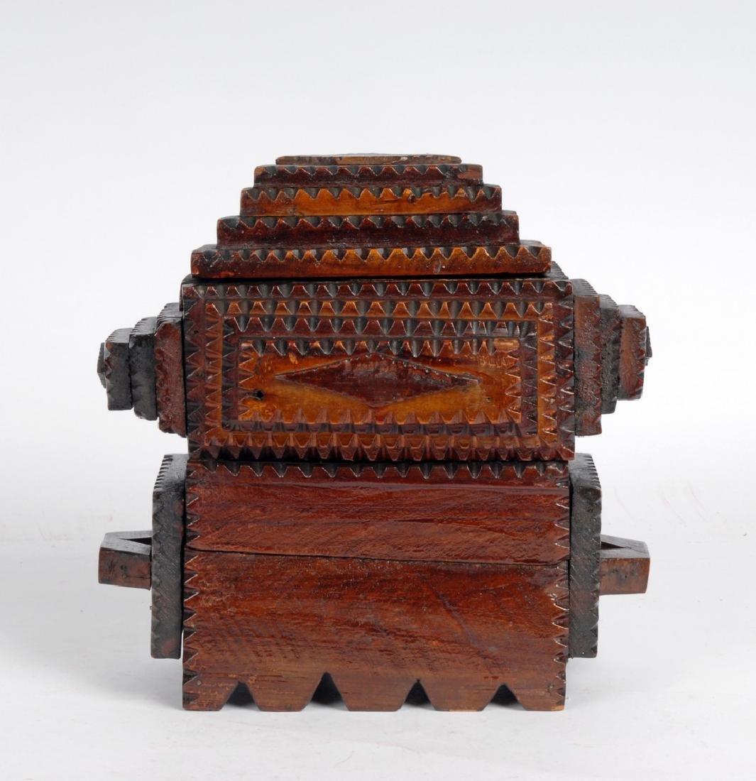 Tramp Art Box by Gus Wynn - 3