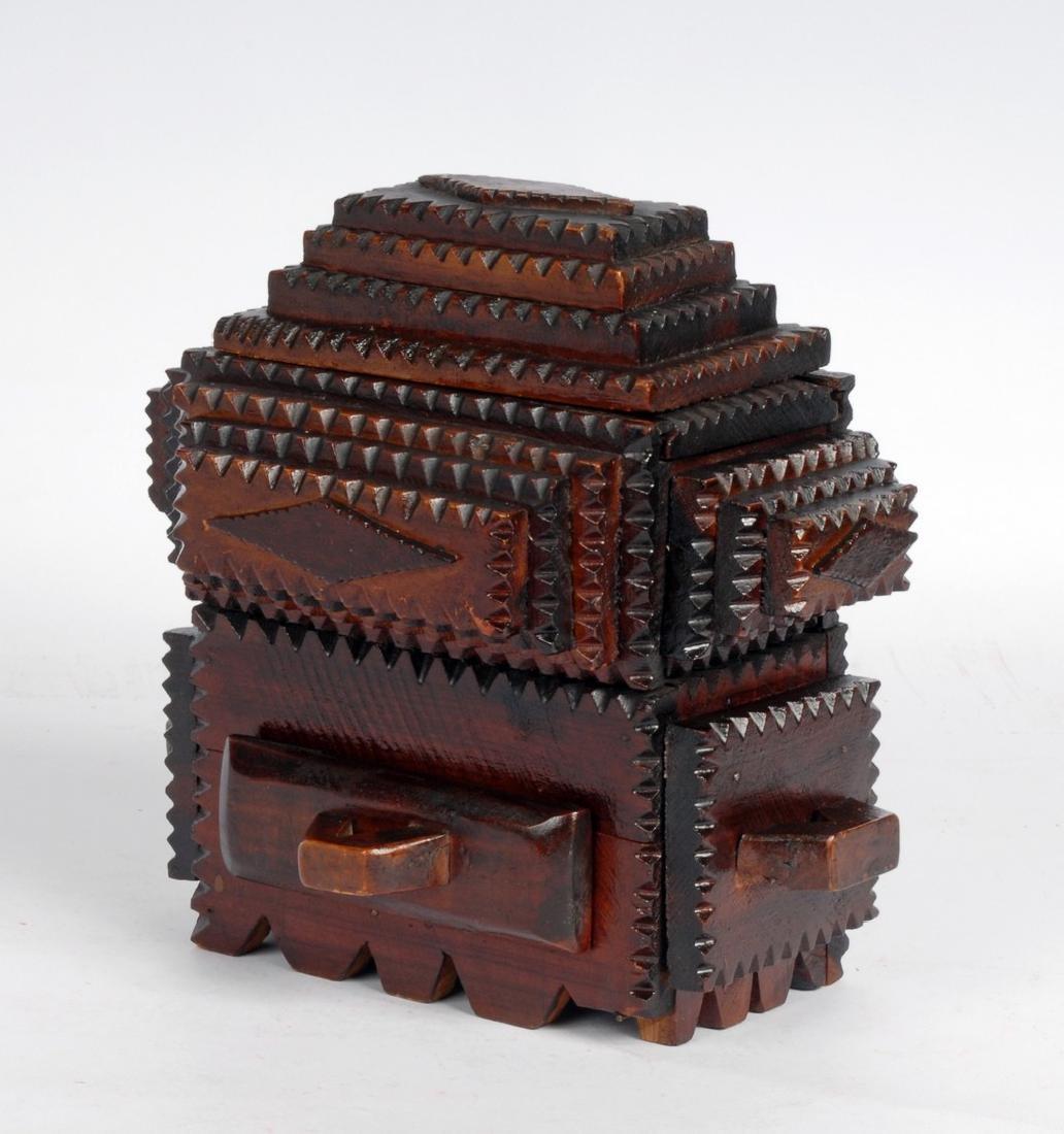 Tramp Art Box by Gus Wynn - 4