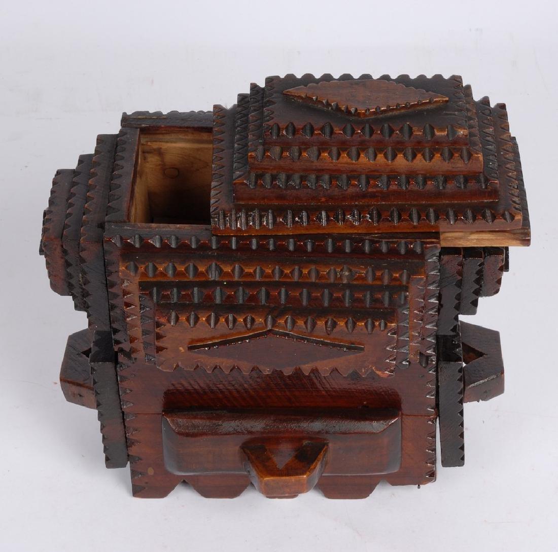 Tramp Art Box by Gus Wynn - 5
