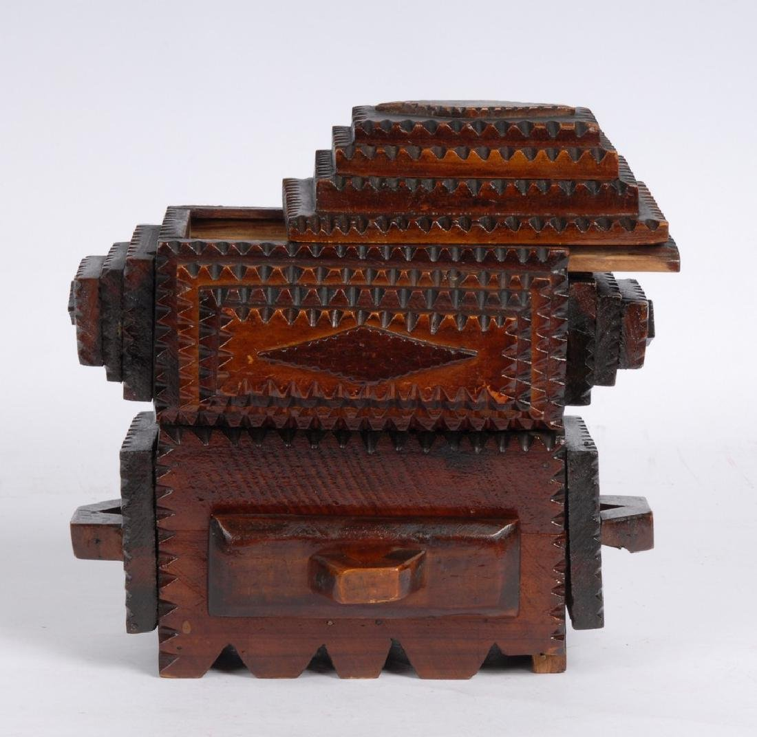 Tramp Art Box by Gus Wynn - 6