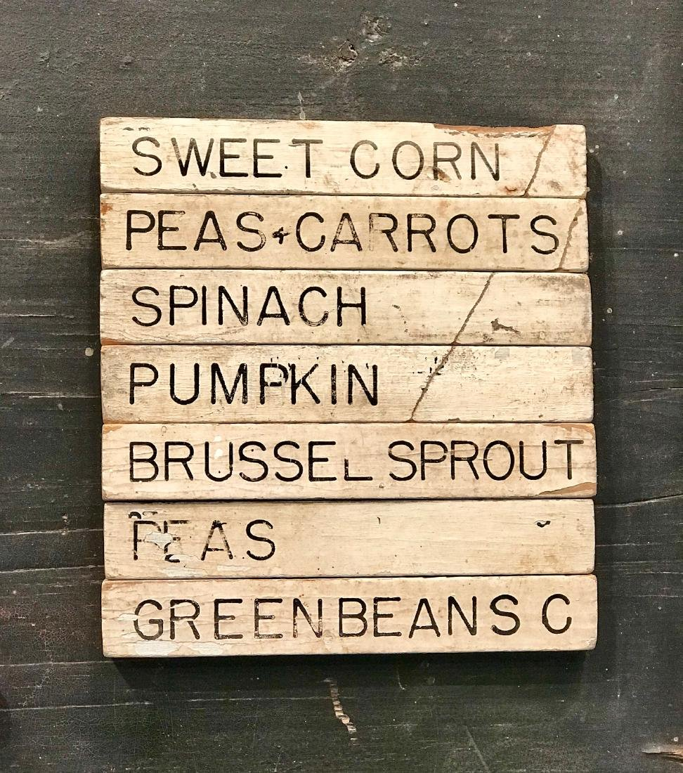 Make-do Country Market Menu Sign, Early 20th Century - 3