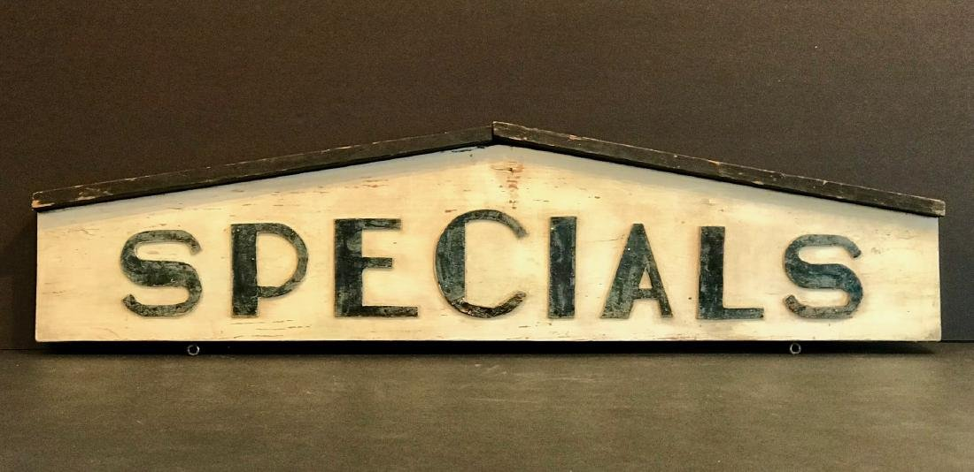 Specials Country Market Sign, Early 20th Century
