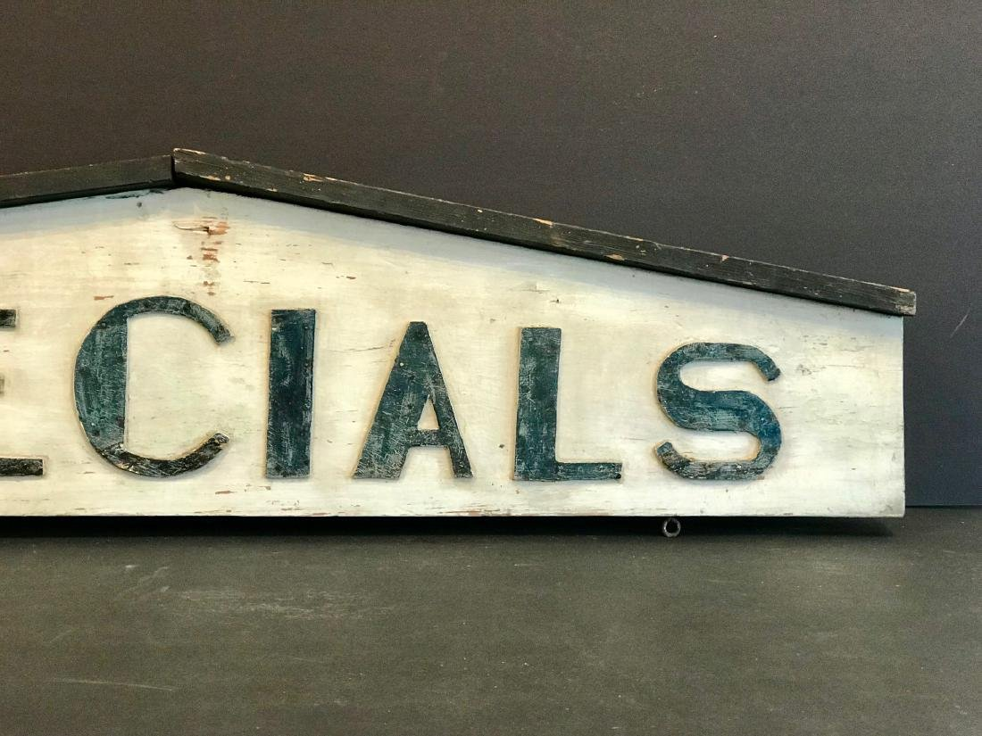 Specials Country Market Sign, Early 20th Century - 3