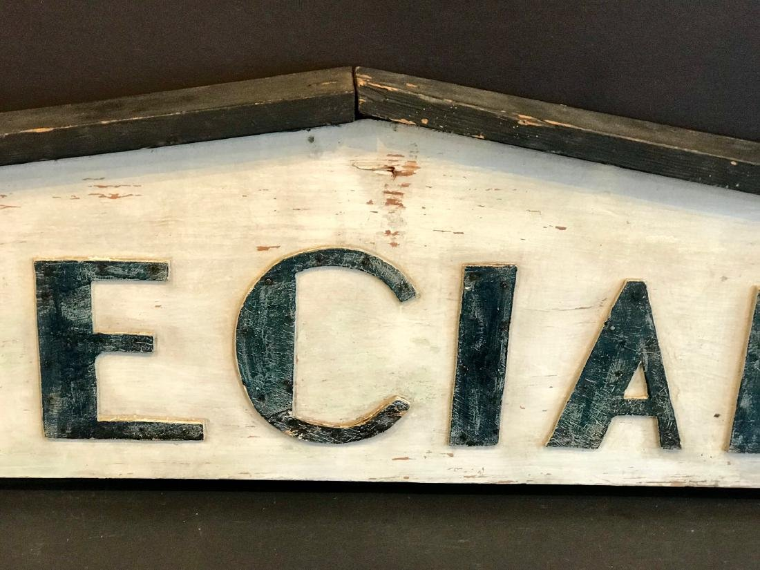 Specials Country Market Sign, Early 20th Century - 8