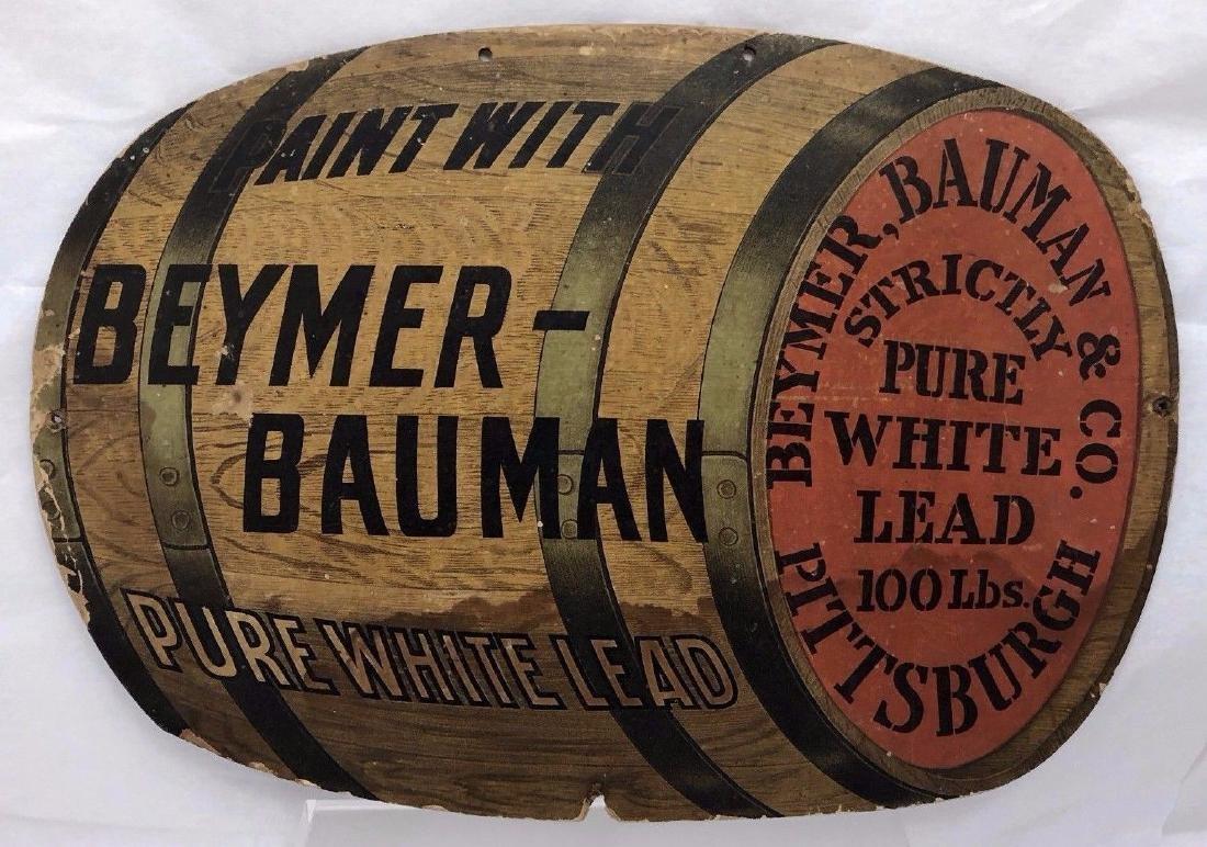 Antique Circa 1900 Beymer Bauman White Lead Paint