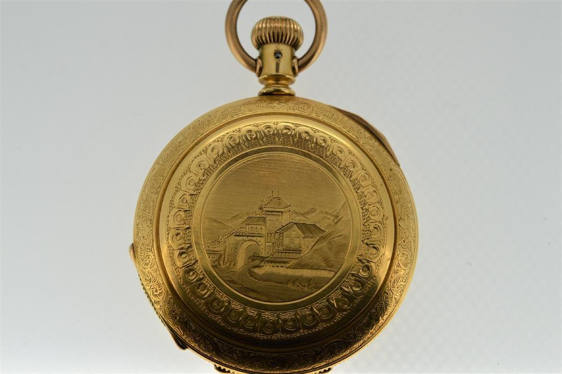 Elgin 14k Gold Plated Pocket Watch - 2