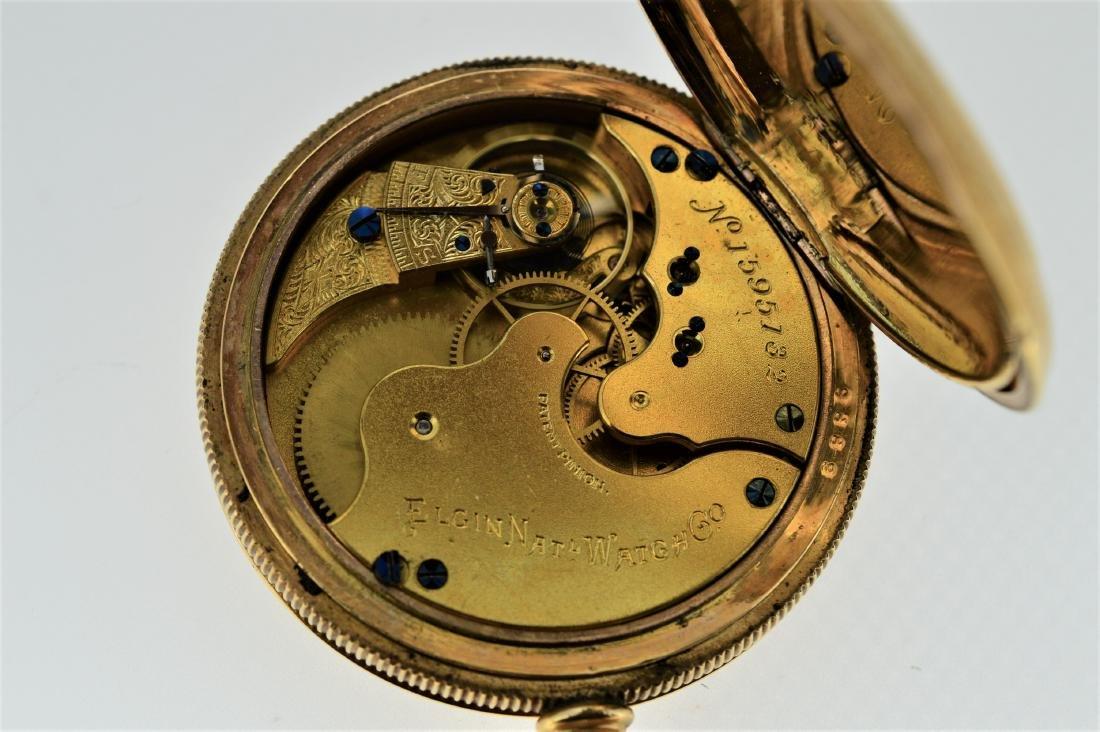 Elgin 14k Gold Plated Pocket Watch - 4