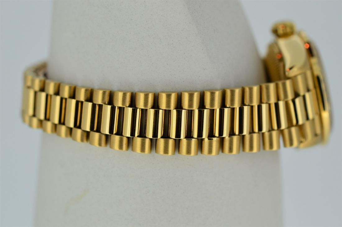 Ladies Rolex Oyster Perpetual 18k Yellow Gold Watch - 2