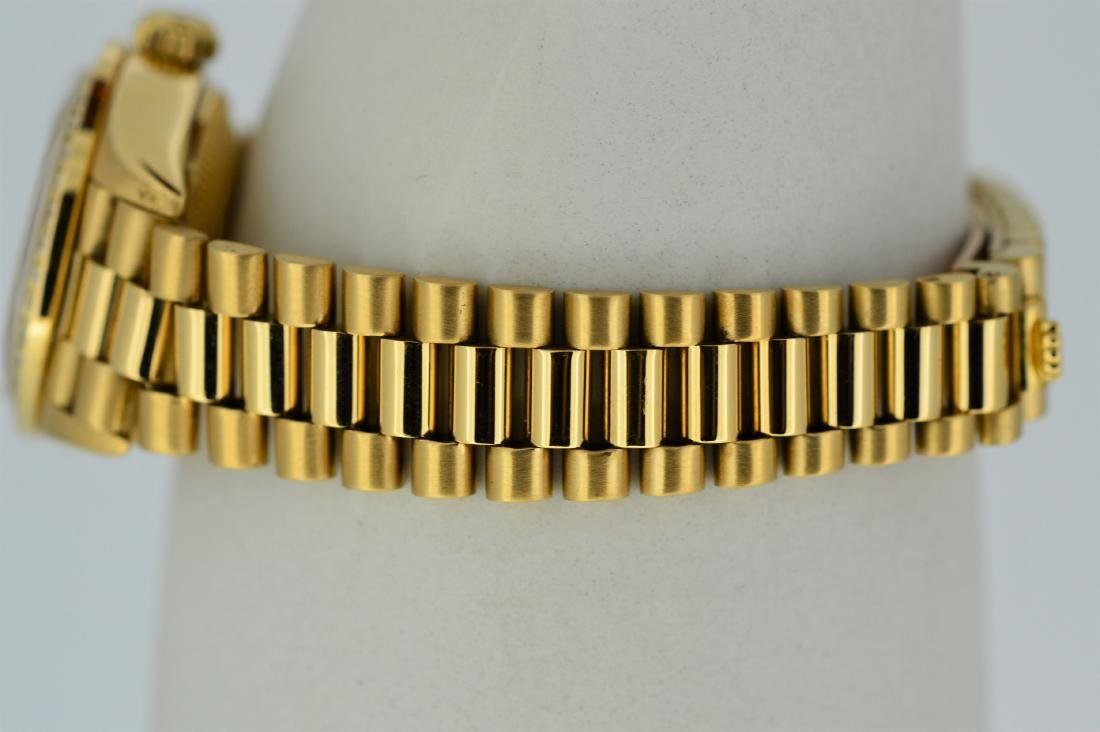 Ladies Rolex Oyster Perpetual 18k Yellow Gold Watch - 3