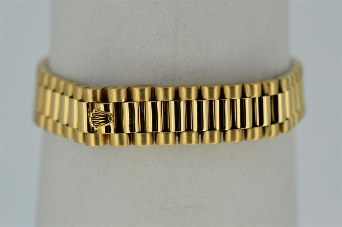 Ladies Rolex Oyster Perpetual 18k Yellow Gold Watch - 4