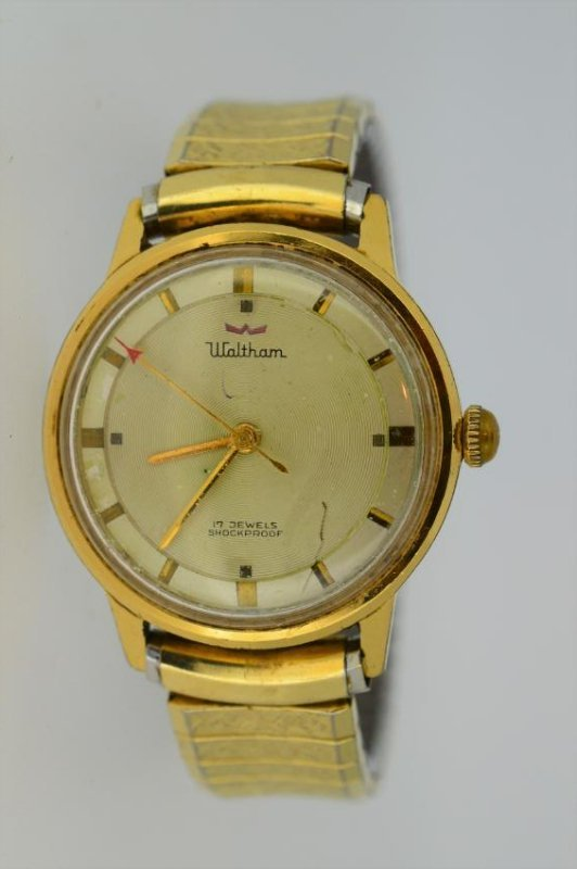 Gents Waltham Gold Top Watch