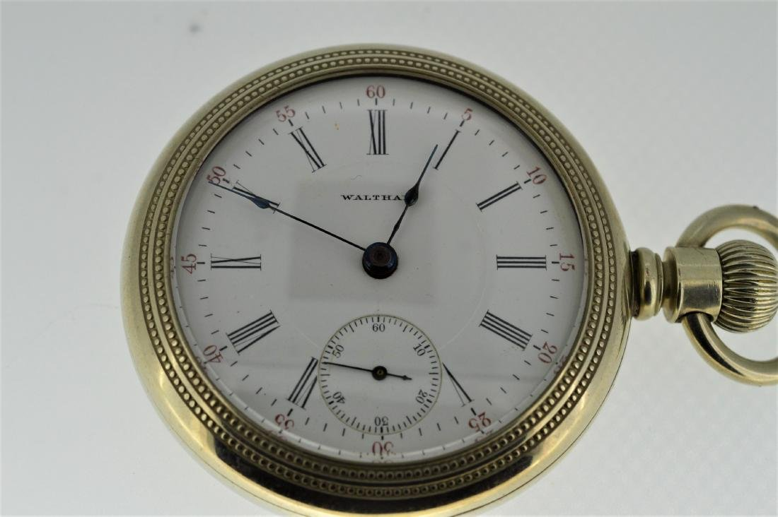 Waltham Bartlet Nickel Plated Pocketwatch with Hunters