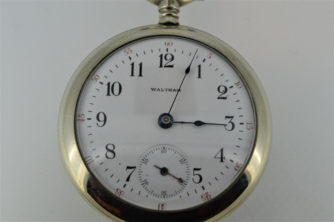 Waltham Stainless Steel Display Back Pocketwatch