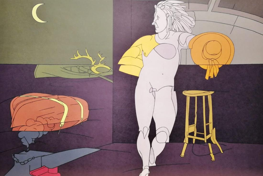 Valerio Adami Lithograph Limited Edition Nude Figure