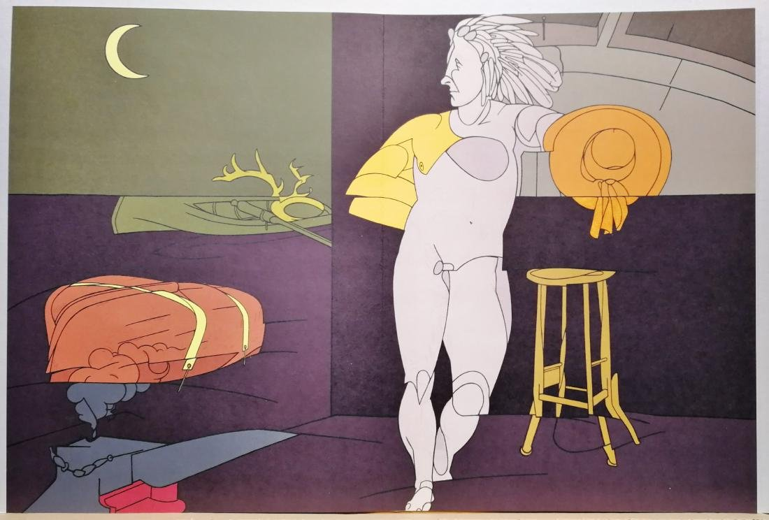 Valerio Adami Lithograph Limited Edition Nude Figure - 3