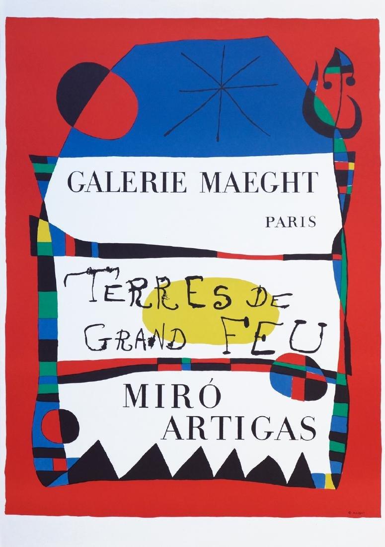 Joan Miró Lithograph Terre de grand Feu - Miro/Artigas