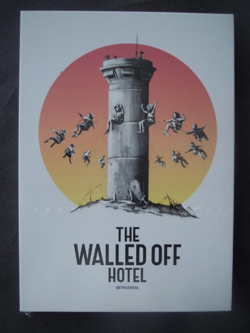 Banksy Woodblock & Walled Off Hotel Collectibles