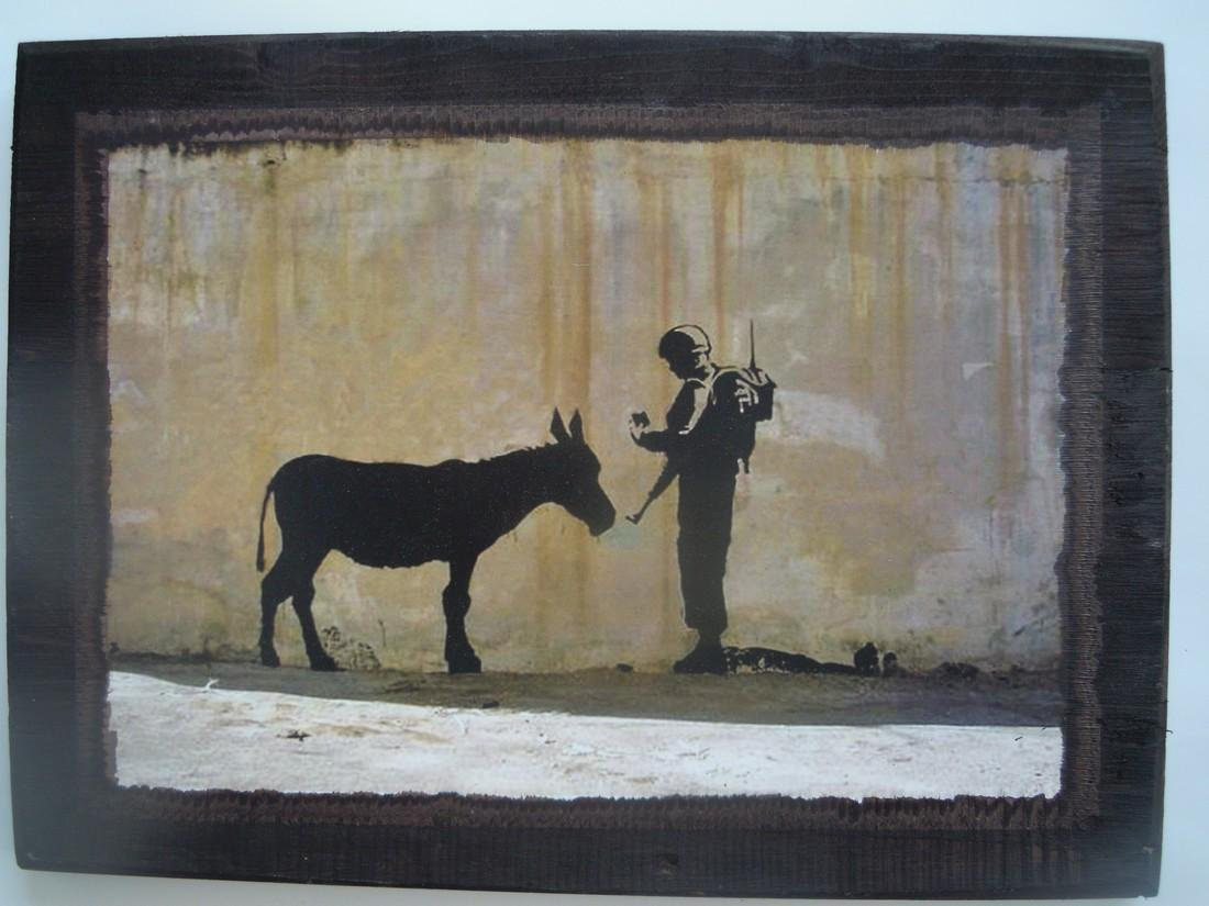 Banksy Woodblock & Walled Off Hotel Collectibles - 3
