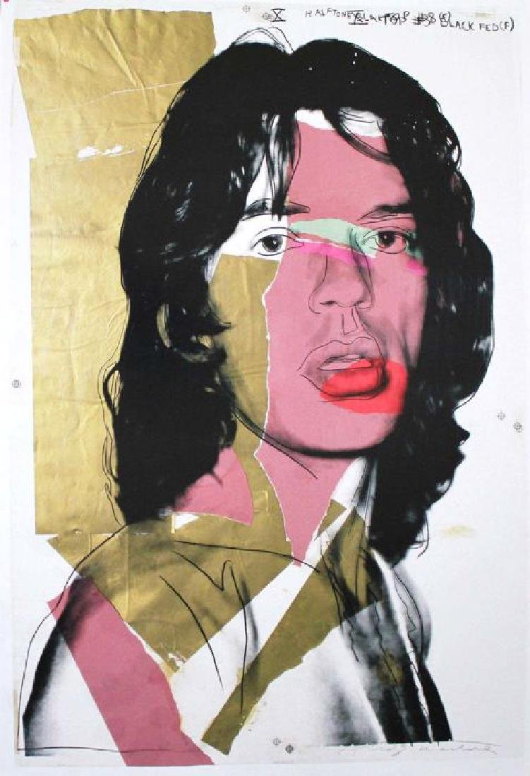 Andy Warhol Limited Edition Lithograph Mick Jagger
