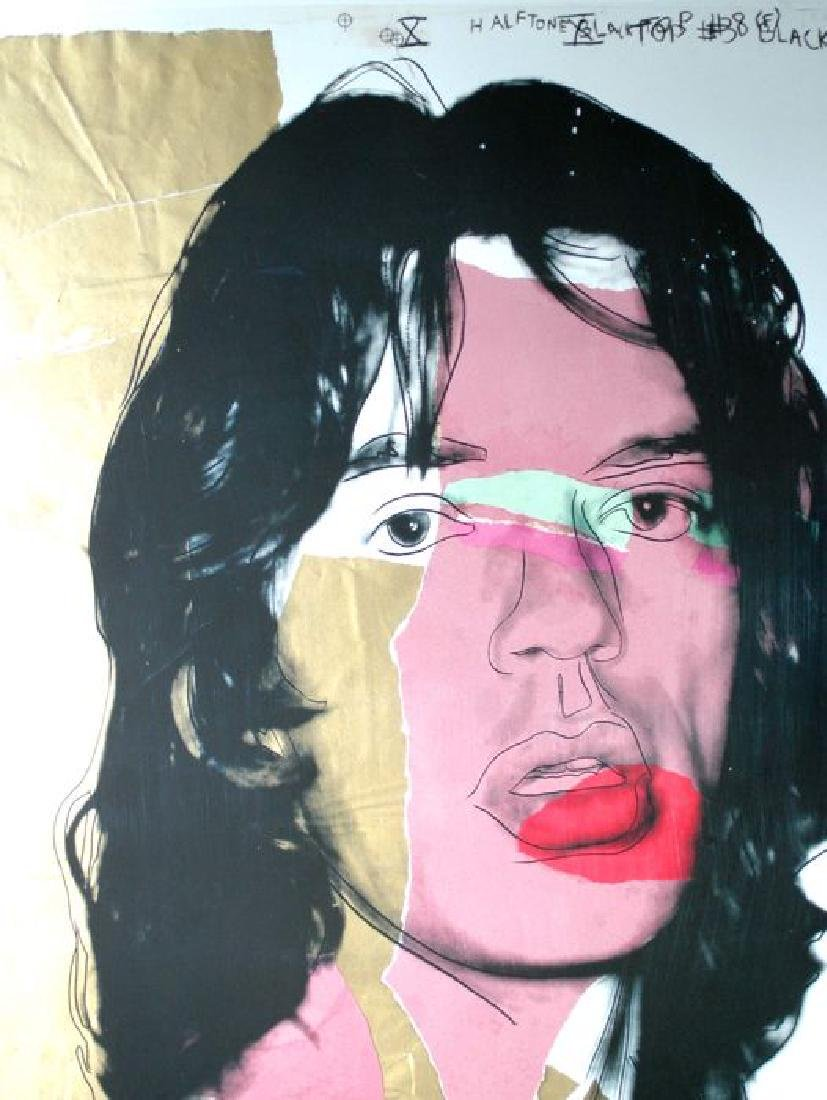 Andy Warhol Limited Edition Lithograph Mick Jagger - 3