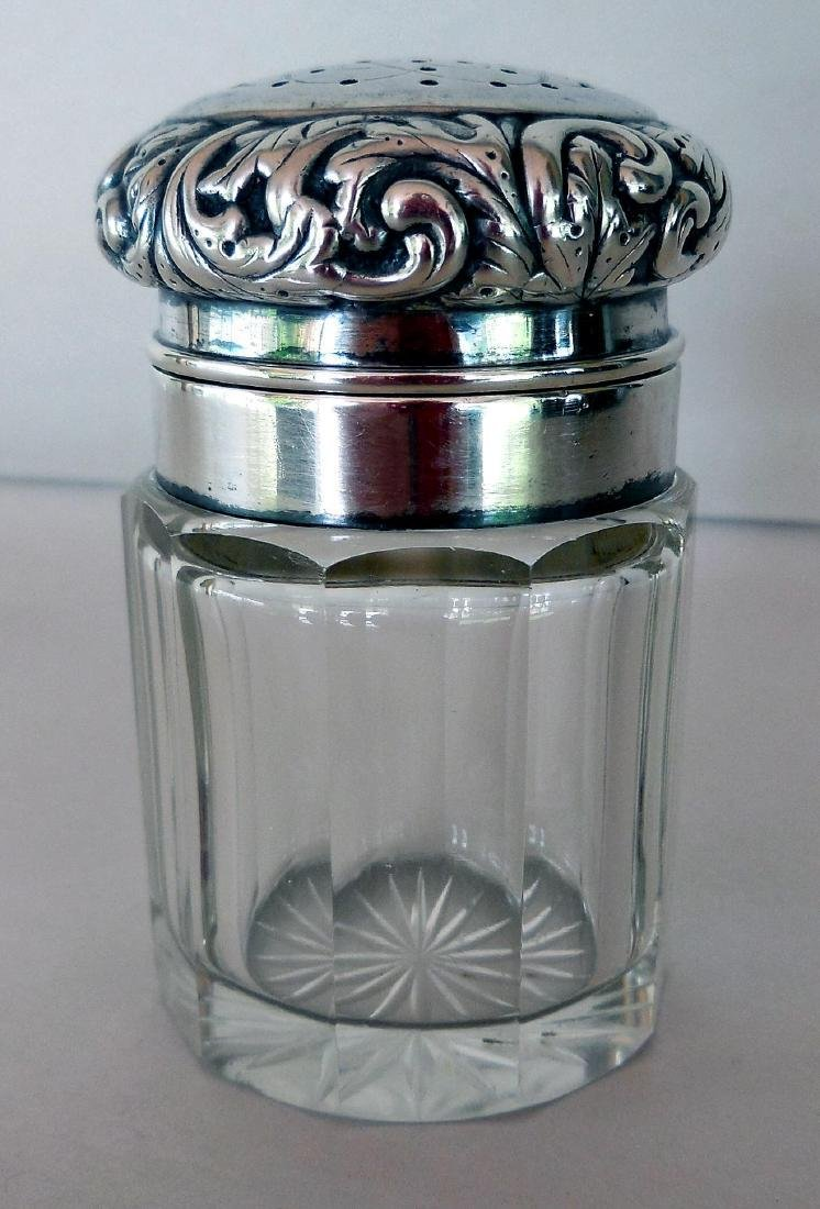 Antique Victorian Sterling-Topped Vanity Jar